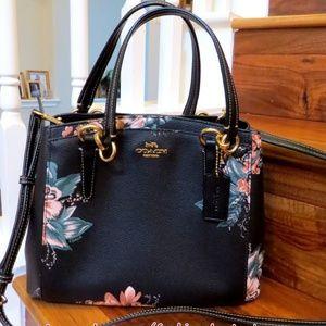 Coach Minetta Handbag Cross-Body Bag Black Multi